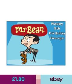 30 X Mr Bean Cupcake Toppers Edible Wafer Paper Fairy Cake ...