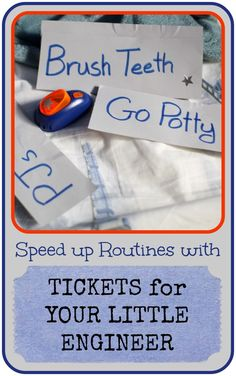 Speed Up Routines with Tickets for Your Little Engineer @ Play Trains!
