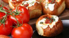 Cheesy Chicken Parmesan–Stuffed Rolls