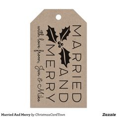 Married And Merry Gift Tags