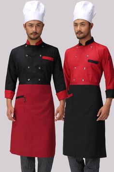 Chef Uniform Wear Long Sleeved Autumn and Winter Hotel Western-style Food Service Chef Uniform Coverall New Chef Kitchen Uniform