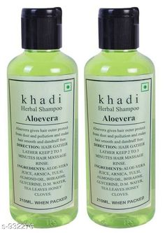 Herbal Products Khadi Aloevera shampoo 420ml ( Pak of 2 )   *Product Name* Khadi Aloevera Shampoo  *Product Type* Shampoo  *Capacity* 210 ml Each  *Key Features & Benefits* Nature's best hand-picked and bottled for you to pamper your hair with, this Shampoo from the house of Khadi is one that has been created to ensure that your tresses get only the very best.  *Description* It Has 2 Pack Of Herbal Shampoo  *Sizes Available* Free Size *   Catalog Rating: ★4.1 (4727)  Catalog Name: Free Sample Hair  Standard Choice Hair Care Herbal Shampoo Vol 1 CatalogID_109759 C50-SC1297 Code: 922-932276-