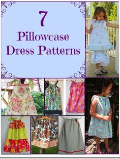 7 Simple Pillowcase Dress Patterns for Girls - Craftfoxes Pillowcase Dress Pattern, Sundress Pattern, Simple Dress Pattern, Pillowcase Dresses, Little Girl Dress Patterns, Little Girl Dresses, Girls Dresses, Tutu Dresses, Dress Tutorials