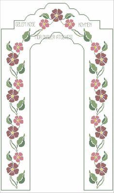 Seccade şablonları Simple Cross Stitch, Cross Stitch Flowers, Easy Crochet Patterns, Baby Knitting Patterns, Cross Stitch Designs, Cross Stitch Patterns, Teapot Cover, Swedish Weaving, Prayer Rug