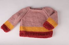 Knitting For Kids, Baby Knitting Patterns, Brei Baby, Knit Crochet, Pullover, Sweaters, How To Make, Clothes, Scrum Board