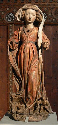 Hl. Magdalena, vom Engeln zum Himmel getragen; Nürnberg um 1470  Bayerisches Nationalmuseum, München