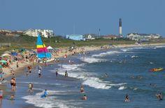 Oak Island, NC, Let's Go! my fav place.never seen it that crowded thank God Honeymoon Vacations, Best Vacations, Vacation Spots, Family Vacations, Pretty Beach, I Love The Beach, Beach Fun, Carolina Beach, North Carolina