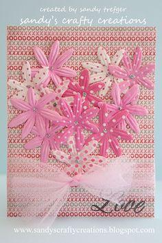 Handmade Valentine Card, Unique Floral Valentine, Handmade Card, Valentine, Pink  Valentine, Love Card. $3.00, via Etsy.