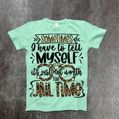 Jail Time T-Shirt - XS / Mint