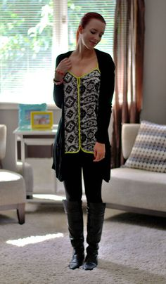 Brightened up black outfit   Sidewalk Strut   Leggings outfit!