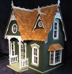 Handmade Victorian Wooden Dollhouse with by CatsCleverCrafts, $400.00