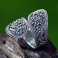 Sterling silver wrap ring, 'Together' by NOVICA          Size 9 or 10 please??
