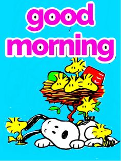 Good Morning Gif Disney, Good Morning Snoopy, Good Morning Happy Sunday, Good Morning Quotes, Snoopy Comics, Emoji Pictures, Peanuts Snoopy, Woodstock, Picture Quotes