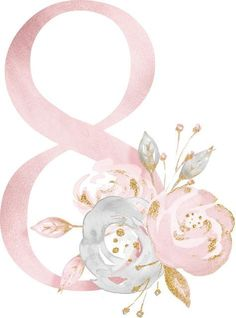 ideas for birthday ideas pictures Diy And Crafts, Paper Crafts, Baby Art, Alphabet And Numbers, 8th Of March, Flower Frame, Envelopes, Wallpaper Backgrounds, Clip Art