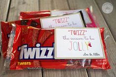 """Twizz"" the Season to Be Jolly FREE Printable - perfect neighbor Christmas gift!"