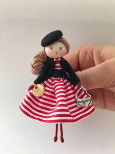 Fabric Tilda Doll Rag Doll Handmade Doll Nursery Doll Pink Doll Cloth Doll Baby Doll Textile Doll Collection Doll Interior Doll by Elvira Yarn Dolls, Felt Dolls, Fabric Dolls, Pretty Dolls, Cute Dolls, Dollhouse Dolls, Miniature Dolls, Clothespin Dolls, Tiny Dolls