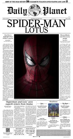 An issue of the Daily Planet featuring a special feature on an upcoming fan-film.