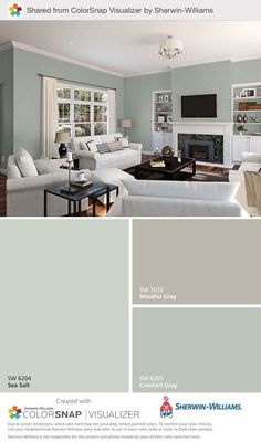 Most Design Ideas 21 Gray Living Room Design Ideas Pictures, And Inspiration – Modern House 21 Gray Living Room Design Ideas: Sherwin Williams Comfort Gray (daylight) This Color Is Paint Colors For Home, House Colors, Paint Colours, Paint Colors For Basement, Best Bathroom Paint Colors, Basement Color Schemes, Modern Paint Colors, Paint Color Schemes, Wall Colours