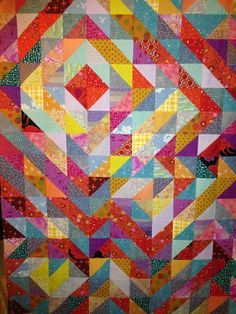 half-square triangle quilt - Google Search