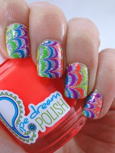 597 Best Water Marble Nail Art 2 Images Water Marble