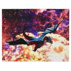 Gatterwe: Planet of the Dragon Pillow Case: A blue dragon flies over his planet. Over the planet are yellow clouds and brown mountains rise up. Yellow Cloud, Blue Dragon, Jigsaw Puzzles, Planets, Moose Art, Dragon Flies, Pillows, Duvet, Clouds