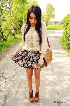 Floral skirt - Womens Fashion Clothing at Sheinside.com