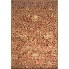@Overstock.com - A classic, elegant traditional Arts and Craft design highlights this machine-loomed viscose/ artificial silk rug  This area rug features a soft and silk like texture in traditional shades of red, gold and brown.http://www.overstock.com/Home-Garden/Arts-and-Craft-Red-Rug-710-x-910/5675960/product.html?CID=214117 $229.99