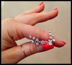 Lovely, light diamond ear climber earrings by Rina Limor.