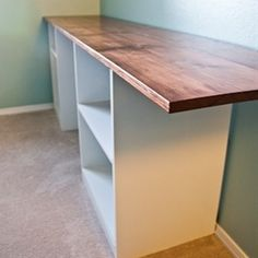 House Bella: How to Build a Modern DIY Desk - Click image to find more home decor Pinterest pins