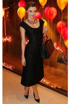 Black dress - always a good option Miranda Kerr