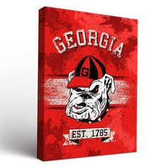 Victory Tailgate NCAA Georgia Bulldogs Banner Framed Graphic Art on Wrapped Canvas Size:
