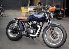 "Ellaspede custom bike shop. First build ""01"" Honda CB350. Check out the story at http://motorbikewriter.com/ellaspede-custom-motorcycle-shop/  Images by David Cohen - Ultragraphics.com.au"