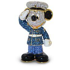 Marine Mickey Mouse Figurine by Arribas - Jeweled $225
