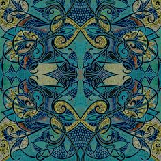 Teal Confessions fabric by edsel2084 on Spoonflower - custom fabric