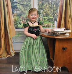 My Fairy Tale: Anna's Coronation Dress from Disney's Frozen - Sizes 2T, 3T, 4T, 5, 6, 7, 8 and 10 on Etsy, $150.00