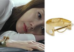 "Choi Ji-Woo 최지우 in ""Temptation"" Episode 10.  Chloe Darcey Brass and Pearl Cuff #Kdrama #Temptation 유혹 #ChoiJiWoo"