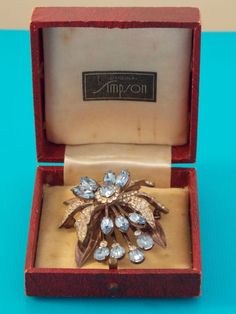 Vintage Antique Simpson 1940 s Crystal Sterling Orchid Brooch by Donald Simpson 1940s, Vintage Antiques, Orchids, Decorative Boxes, Brooch, Jewels, Jewellery, Crystals, Ebay