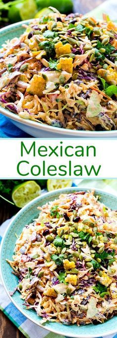 a creamy coleslaw flavored with taco seasoning. Mexican Coleslaw- a creamy coleslaw flavored with taco seasoning.Coleslaw- a creamy coleslaw flavored with taco seasoning. Mexican Coleslaw- a creamy coleslaw flavored with taco seasoning. Pasta Recipes, Cooking Recipes, Dinner Recipes, Cooking Games, Cooking Classes, Casserole Recipes, Drink Recipes, Soup Recipes, Recipies