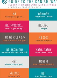 "The Danish word ""Nå"". (x-post from r/denmark) Speak Danish, Danish Words, Languages Online, Foreign Languages, European Languages, The Words, Danish Language Learning, Danish Culture, Danish Christmas"