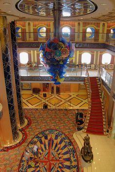"""The ship """"Disney Magic's"""" Lobby/Atrium.  www.viptrvl.com"""