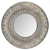 Soft Gold Moroccan Round Mirror 70cm