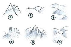 How to draw mountains step 4