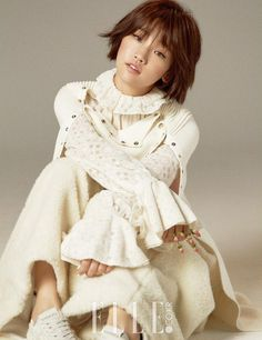 """""""Cinderella"""" - 박소담 (Park So Dam) For September """"Elle""""   Couch Kimchi"""