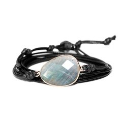 The pearly and luminous Labradorite stone is often associated with the shimmering and magical northern lights. For centuries many believed that the northern lights were joyful spirits dancing in the night sky to welcome souls into the afterlife.  The Labradorite stone is also considered to be a powerful protecting ston