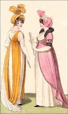 Full Dresses, Fashions of London and Paris, June 1801