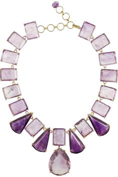 Bounkit|24-karat gold-plated amethyst necklace|NET-A-PORTER.COM