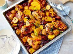 Unser beliebtes Rezept für Orangenhähnchen vom Blech mit Chorizo und mehr als 55.000 weitere kostenlose Rezepte auf LECKER.de.