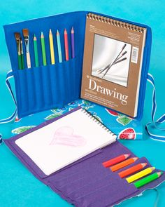 This lovely artist's organizer is the perfect way to easily store all of your children's art supplies for use at home or on the go.