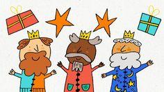 Descarga e imprime la carta de los Reyes Magos de Hop'Toys el diseño de esta carta Hop'Toys con pictogramas, o sin pictogramas.