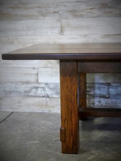 This Reclaimed Oak Table Top Finished With Tung Oil Was Made Here At - Reclaimed oak table top